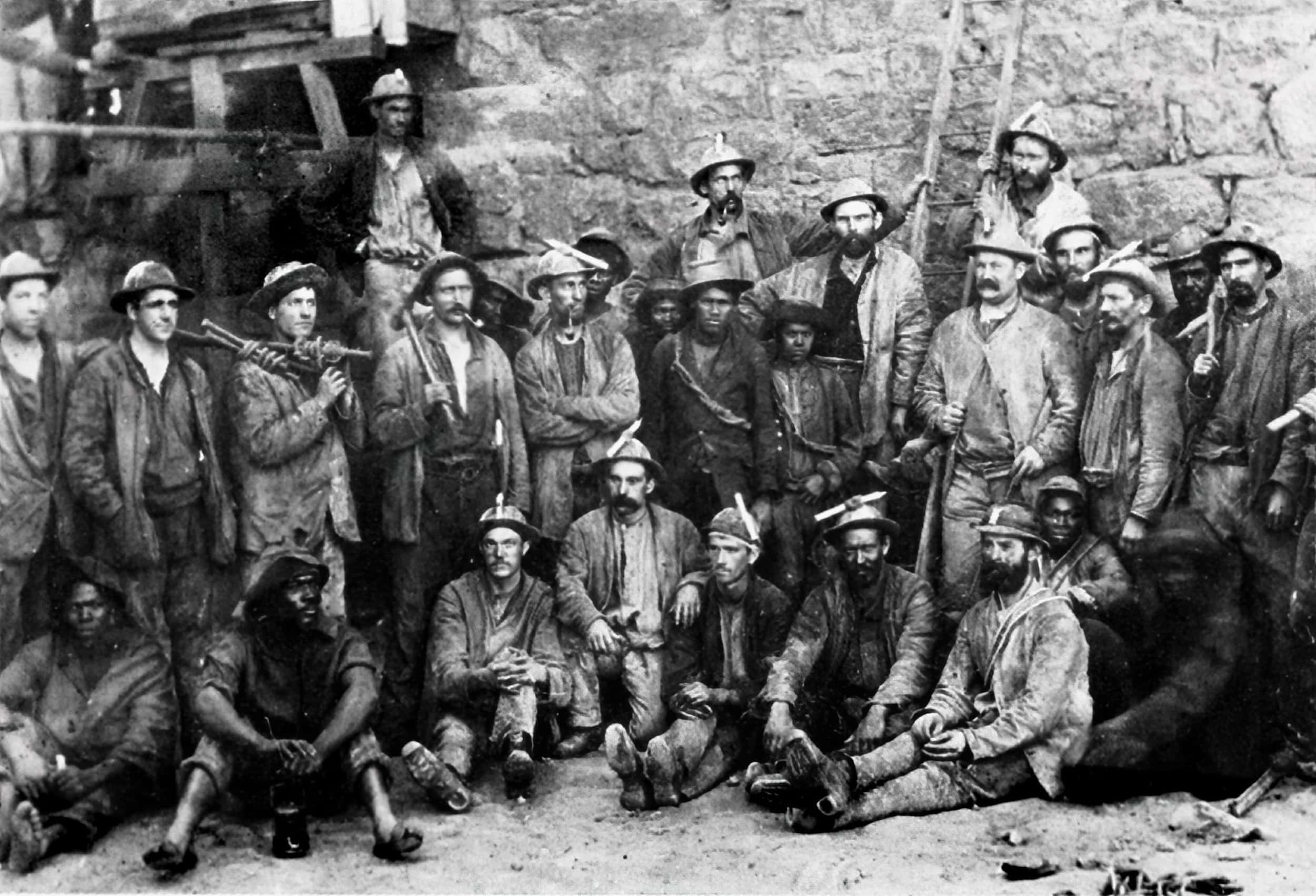 Cousin Jack miners at O'Okiep mine, South Africa, 1890
