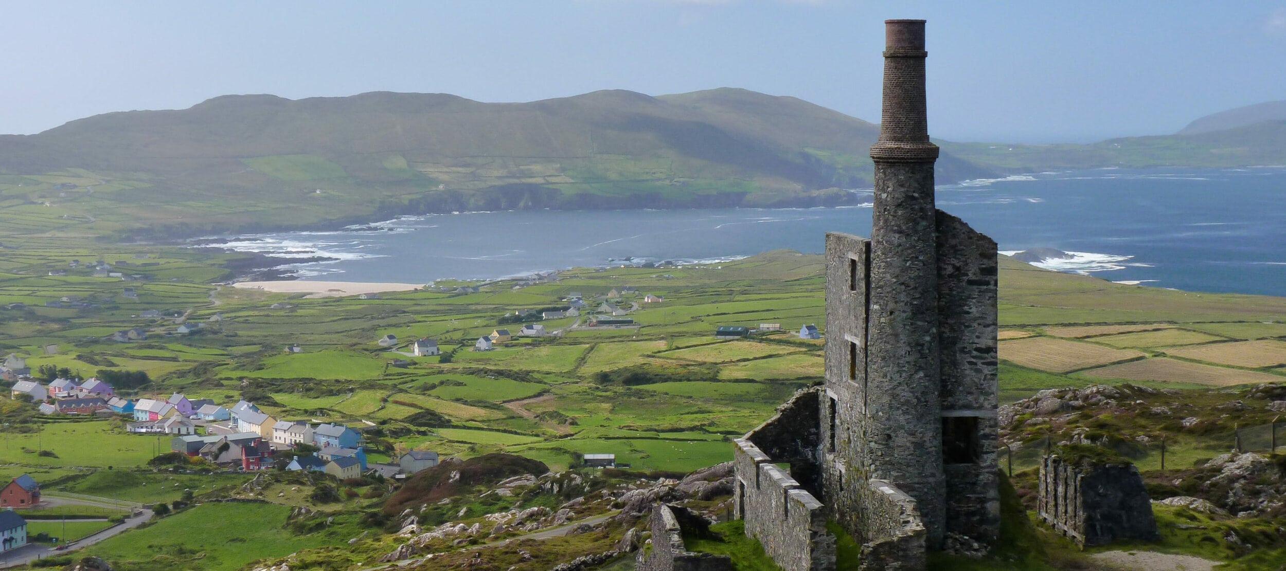 Mountain Mine, Allihies, Ireland. Cousin Jacks worked in most of the Irish mines