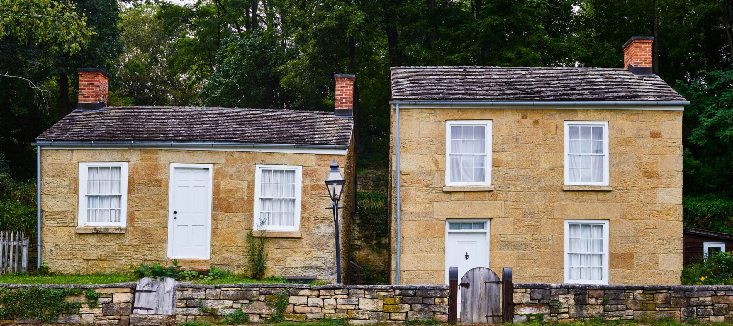 Cousin Jack lived in houses like these in Cornwall. Pendarves House and Trelawney House, Cornish miners houses, Mineral Point, Wisconsin.