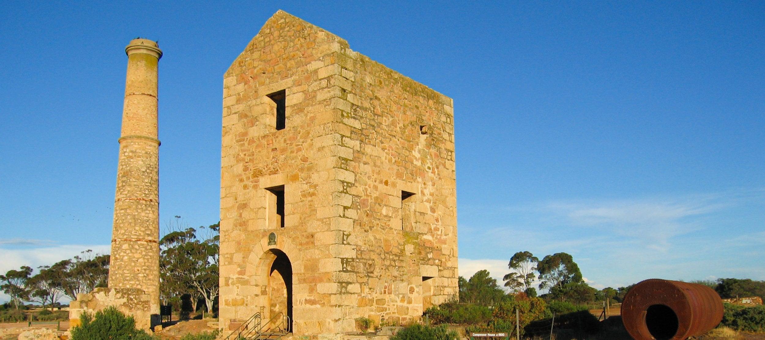 Cousin Jacks built Hughes's engine house, Moonta Mine, Australia