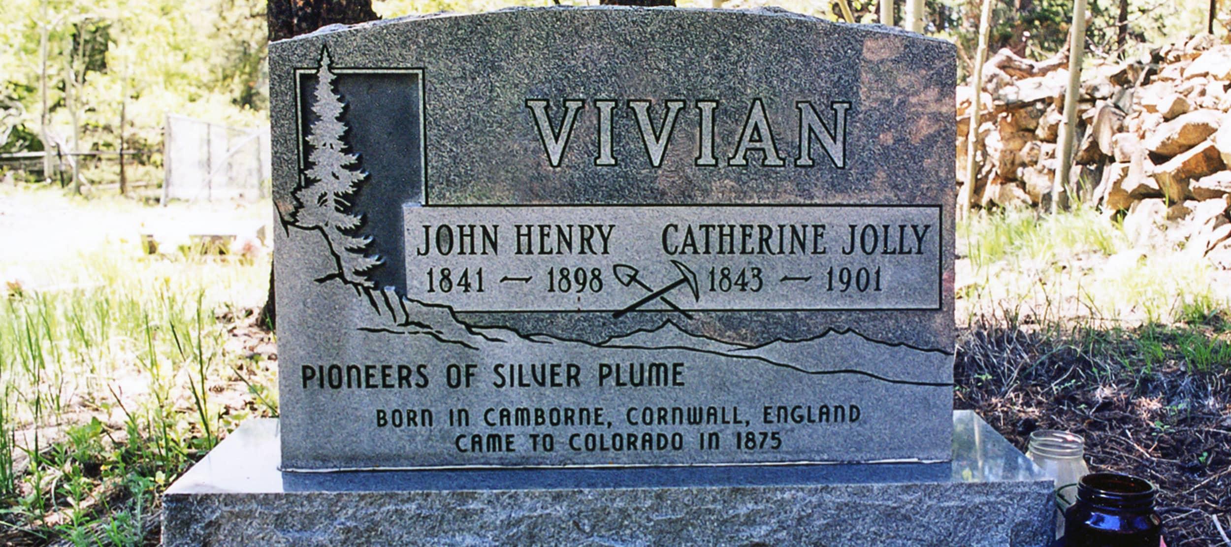 A Cousin Jacks Headstone, Silver Plume, Colorado