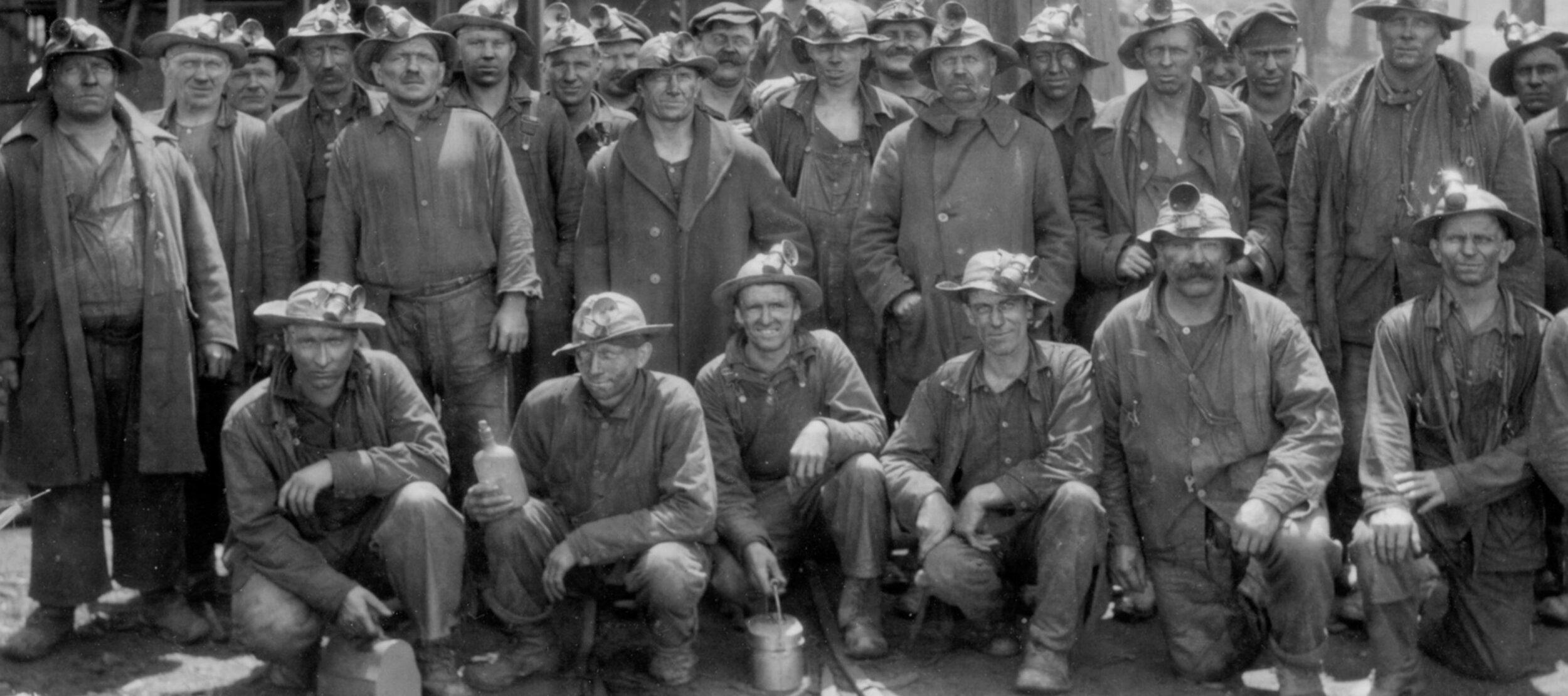 Cousin Jack Cornish miners at Tamarack, Keweenaw, Michigan