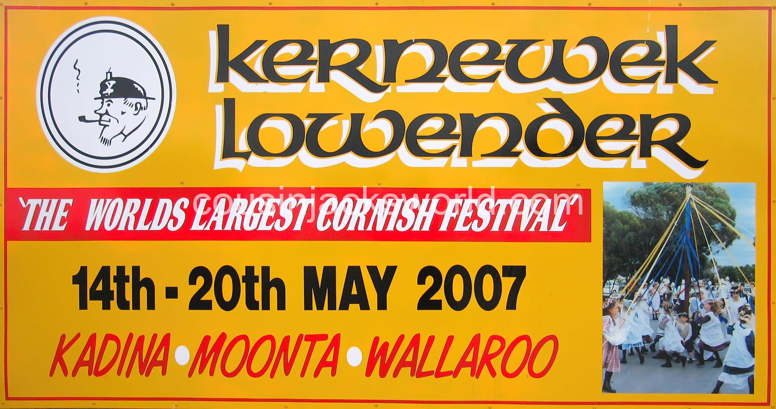 Cornish Lowender festival in South Australia. A legacy of Cornish mining migration