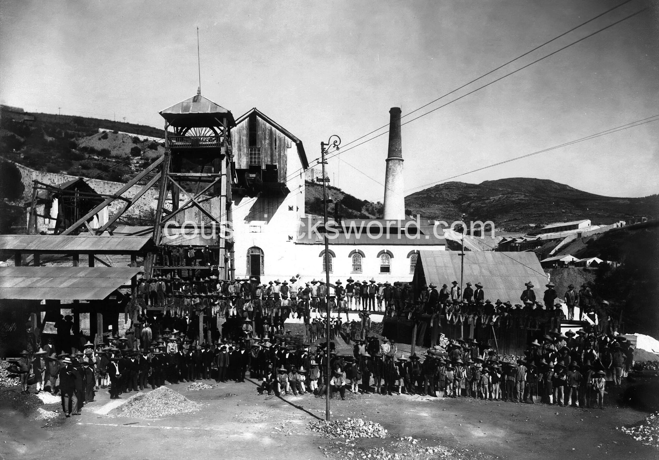 Electricity replaces Cornish steam technology, Pachuca, Mexico. The end of Cornish mining migration